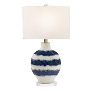 Coll Striped Ceramic 32 Table Lamp