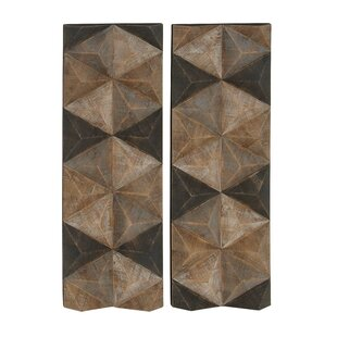 Geometric Inspired Wooden Wall Décor (Set Of 2)