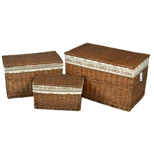 3 Piece Wicker Laundry Set By August Grove