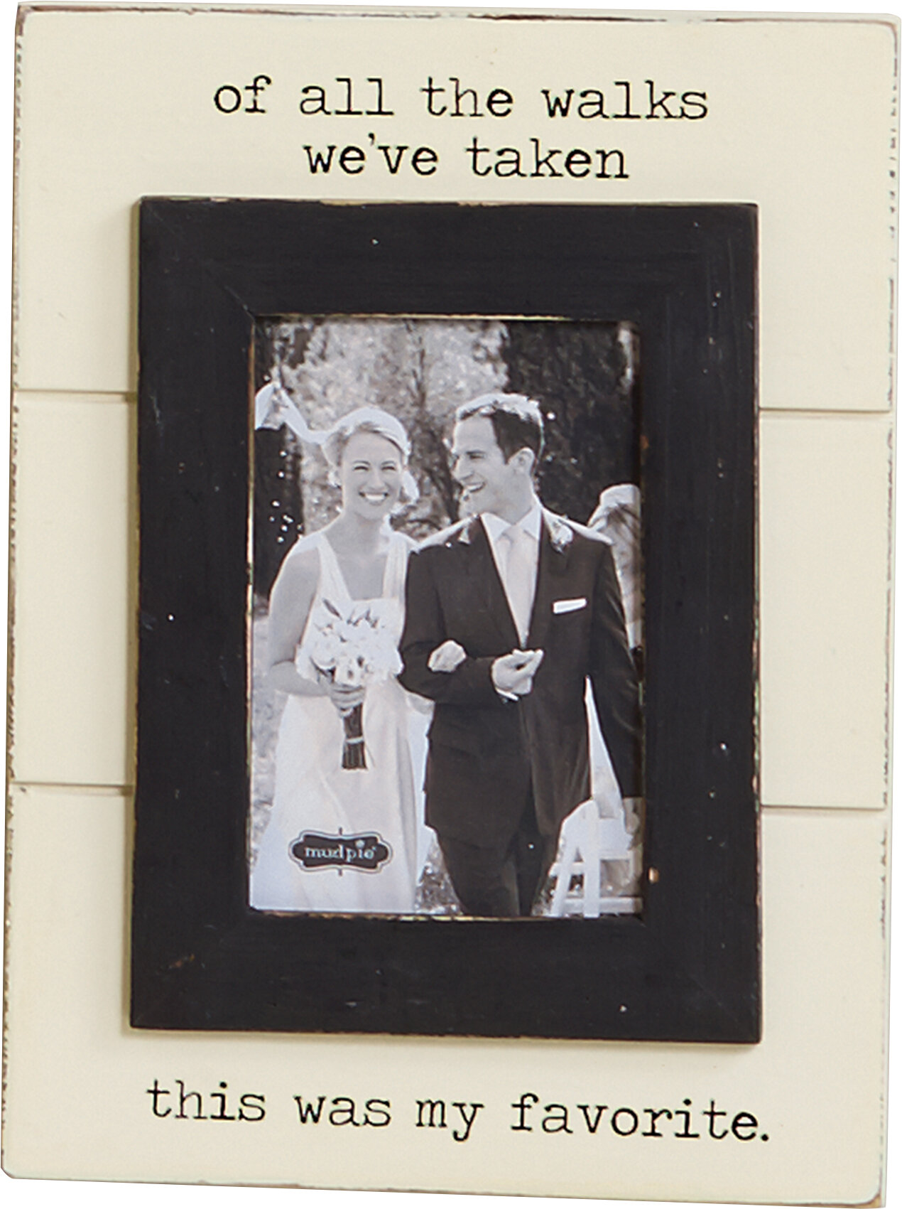 Mud pie picture frames youll love wayfair wedding of all the walks picture frame jeuxipadfo Image collections