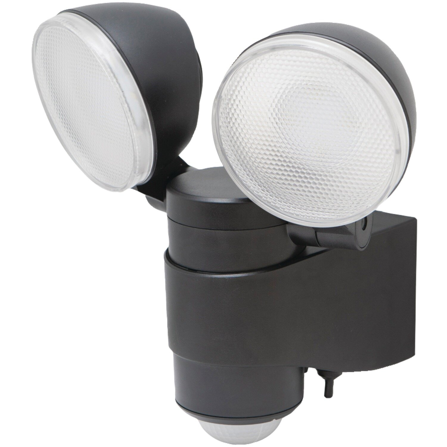 Dual Head Battery Operated Outdoor Security Spotlight With Motion Sensor