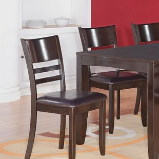 Lockmoor Side Chair with Faux Leather Seat (Set of 2)