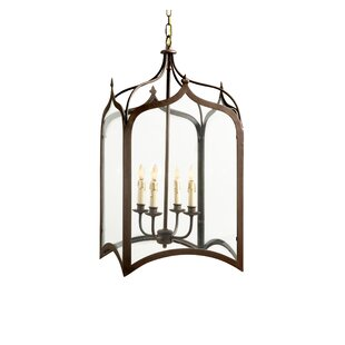 Read Reviews Chesterfield 4-Light Outdoor Hanging Lantern By Canora Grey