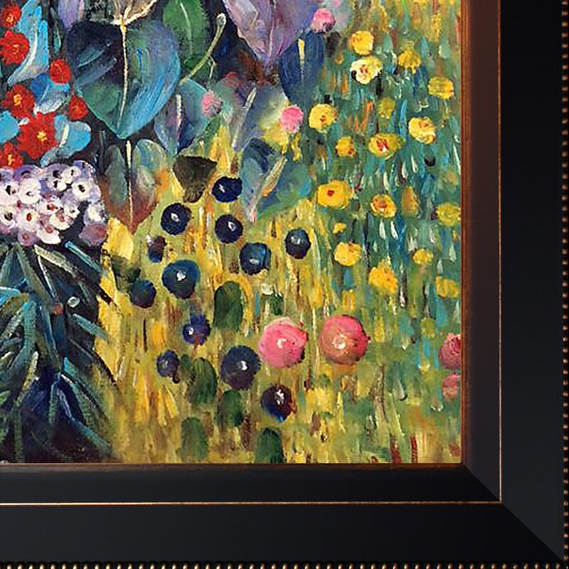 Attrayant Farm Garden With Sunflowers By Gustav Klimt Framed Painting
