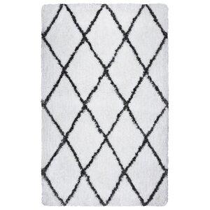 Vaquero Hand-Tufted Bright White/Gray Indoor/Outdoor Area Rug
