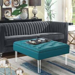Yeldell Leather Cocktail Ottoman by House of Hampton