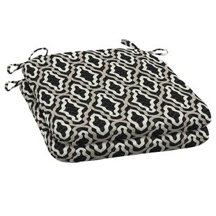Trellis Seat Pad Outdoor Dining Chair Cushion (Set of 2)