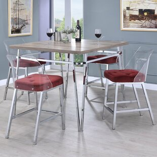 Arkins 5 Piece Counter Height Dining Set by Latitude Run