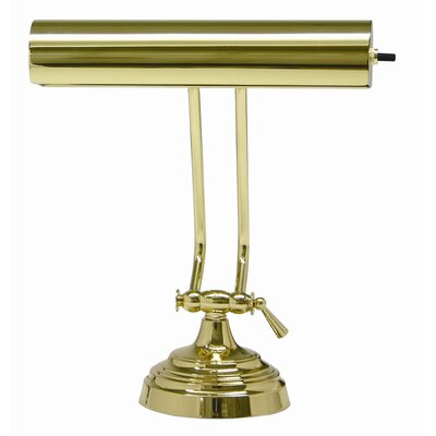 "Charlton Home Ola Piano 10.5"" Table Lamp Finish: Polished Brass"