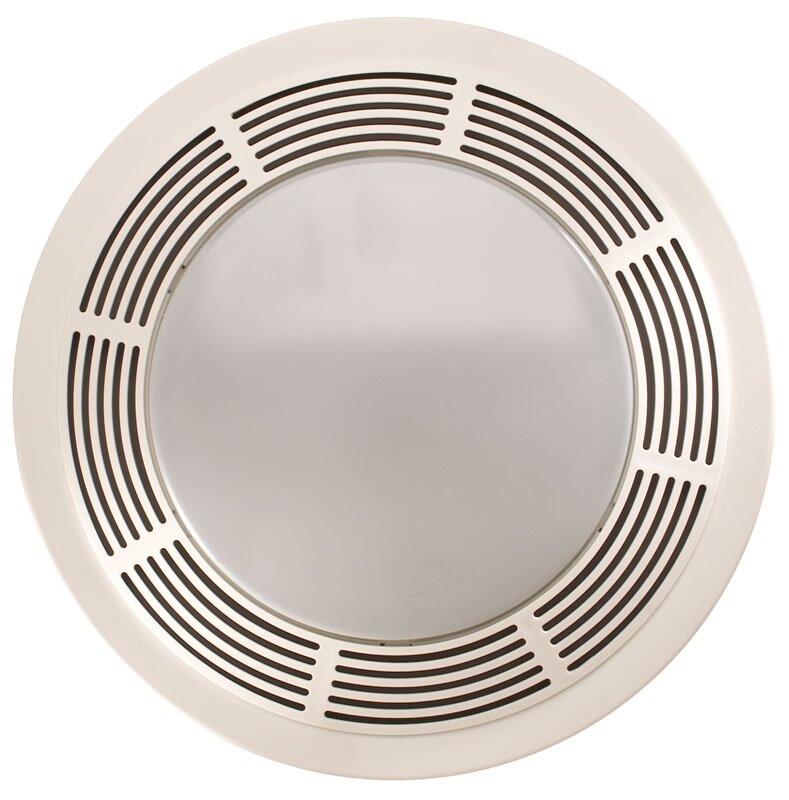 Broan Round Cfm Exhaust Bathroom Fan With Light And Night