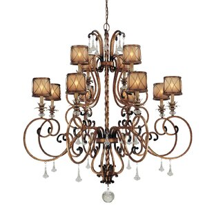 Astoria Grand Mcmillian 12-Light Shaded Chandelier