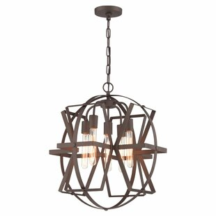 Quezada Madelyn 5-Light Geometric Chandelier by Williston Forge