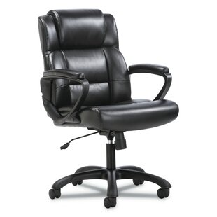 Overturf Mid-Back Genuine Leather Executive Chair