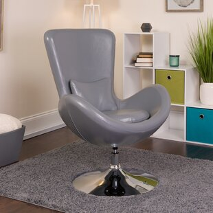 Palisades Leather Lounge Chair by Orren Ellis