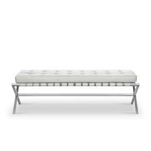 Mercer41 Joiner Faux Leather Bench