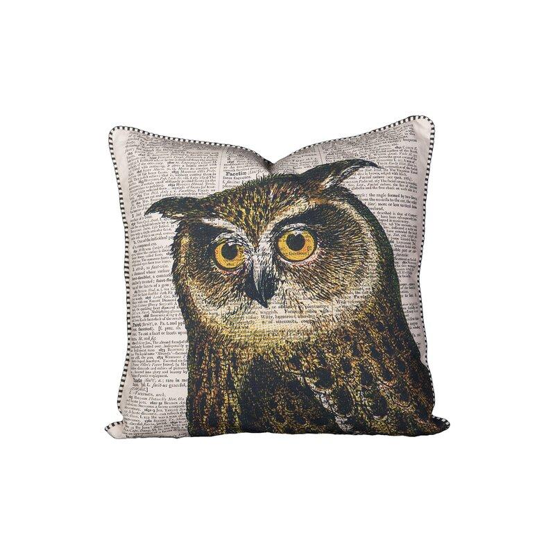August Grove Hindes Owl Cotton Throw Pillow Wayfair