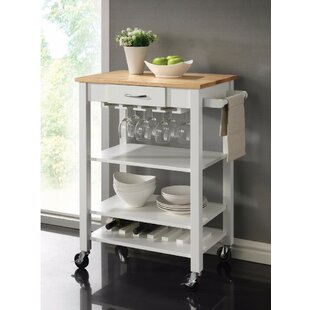 Laba Rubberwood Kitchen Cart
