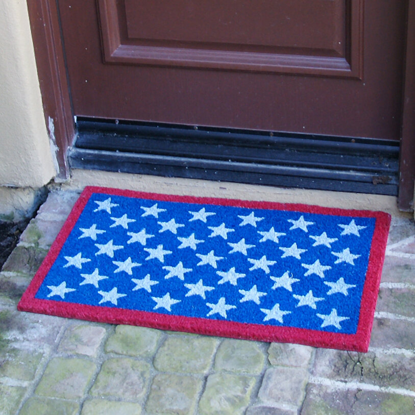 Rubber Cal, Inc. Patriotic American Flag Doormat U0026 Reviews | Wayfair