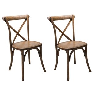 Dunaird Xback Farm Solid Wood Dining Chair (Set of 2)