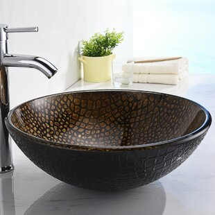 Top Reviews Nile Glass Circular Vessel Bathroom Sink By ANZZI