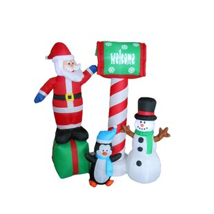 Santa, Penguin and Snowman Christmas Decoration