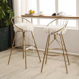 Hudgens Swivel Counter & Bar Stool (Set of 2) by Everly Quinn
