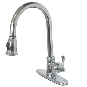 Kingston Brass Vintage Gourmetier Pull-Down Single Handle Kitchen Faucet