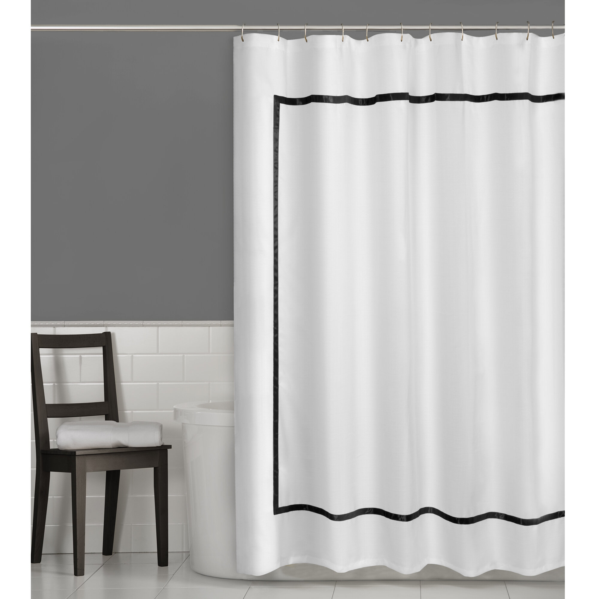 Maytex Hotel Border Shower Curtain & Reviews | Wayfair