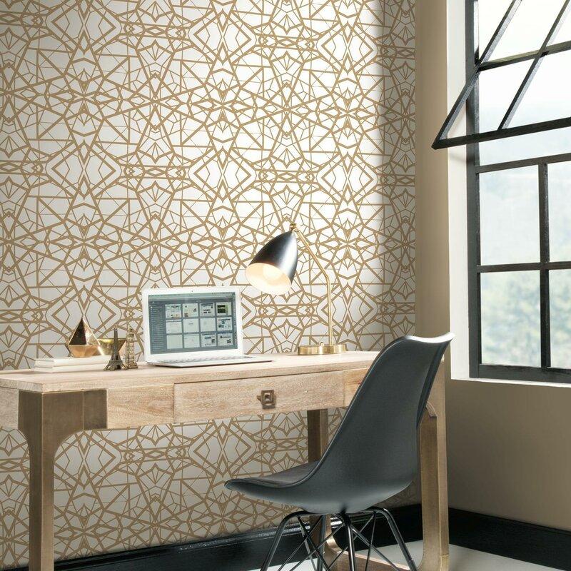 Rodas Shatter 16 5 L X 20 W Geometric And Stick Wallpaper Roll