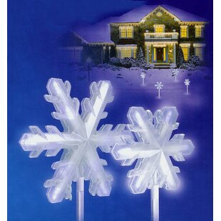 The Holiday Aisle LED Lighted 3-D Snowflake Pathway Markers Christmas Light (Set of 4)