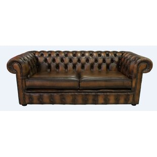Cayuga Genuine Leather 3 Seater Chesterfield Sofa By Ophelia & Co.