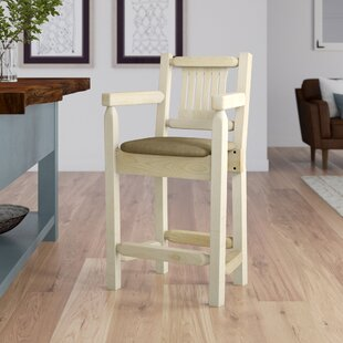 Abella 24 Square Bar Stool Loon Peak