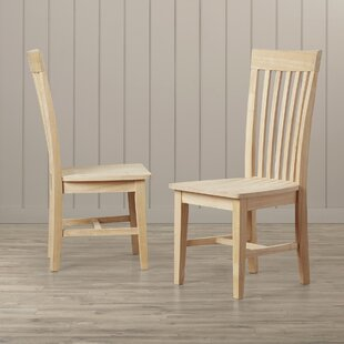 Lynn Slat Back Solid Wood Dining Chair (Set of 2) Mistana