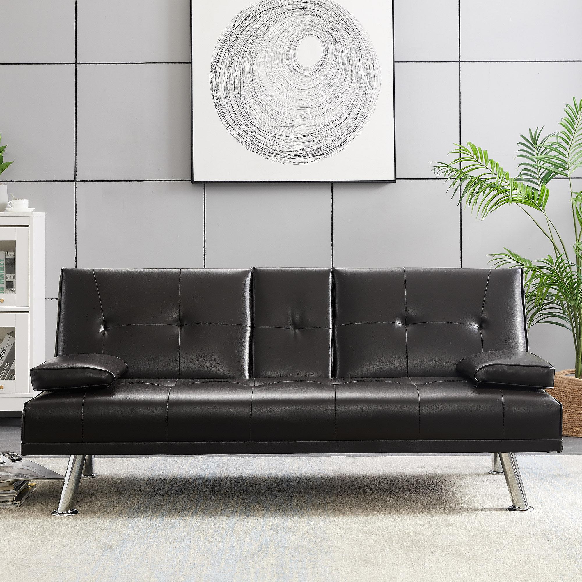 Latitude Run Danaira Twin Or Smaller 66 2 Split Back Convertible Sofa Wayfair