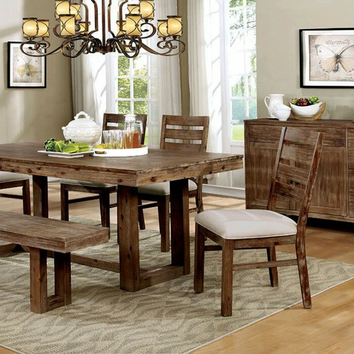 Thibodeaux Country Solid Wood Dining Table