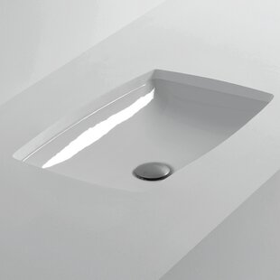 WS Bath Collections H10 Rectangular Undermount Bathroom Sink