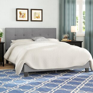 Kaniel Button Tufted Upholstered Platform Bed