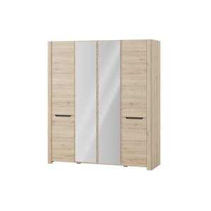 Estrada 4 Door Wardrobe Armoire by Loo..