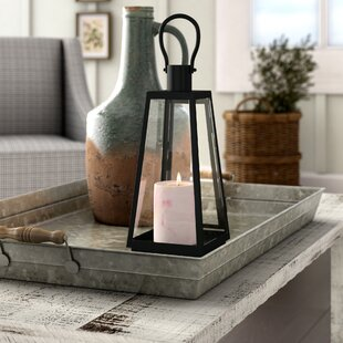 Gracie Oaks Exploration Iron and Glass Lantern
