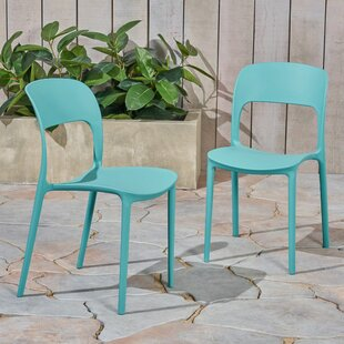 Dibenedetto Stacking Patio Dining Chair (Set of 2)