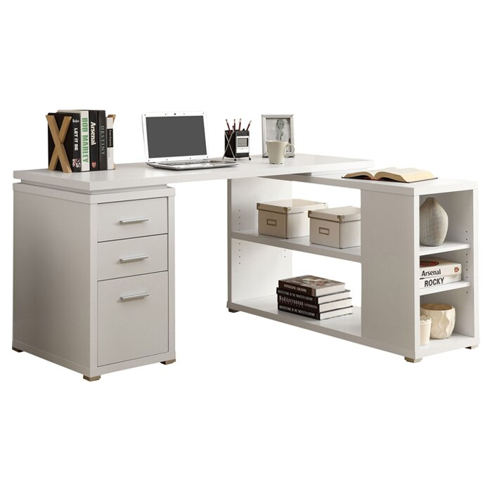 Beau Drewes 3 Drawer L Shaped Desk