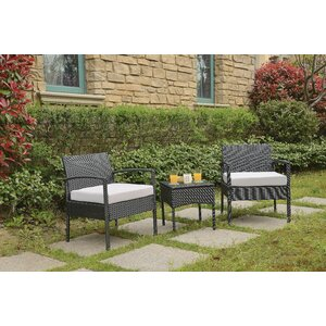 Howze 3 Piece Lounge Seating Group with Cushion