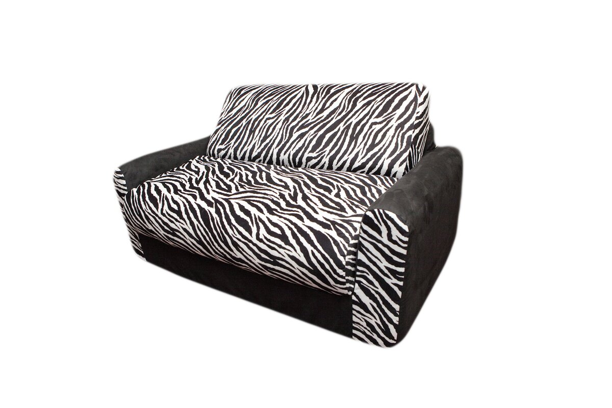 Fun Furnishings Micro and Zebra Kids Sofa Sleeper Reviews Wayfair