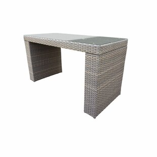 Florence Wicker Bar Table by TK Classics Spacial Price