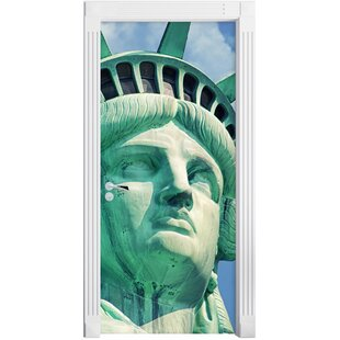 Majestic Statue Of Liberty Door Sticker By East Urban Home