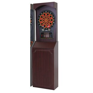 Cricket Pro 800 Electronic Dartboard Game with Arcade Style Cabinet By Arachnid