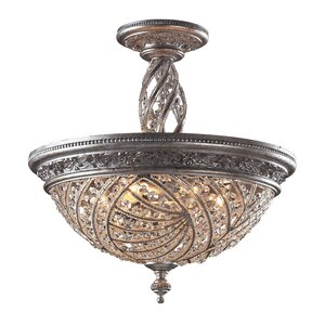 Jaidan 6-Light Semi-Flush Mount