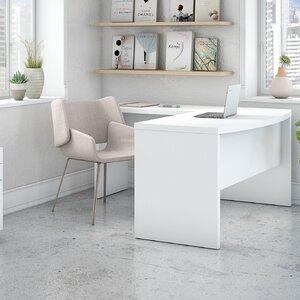Echo Bow Front 3 Piece L-Shape Desk Office Suite