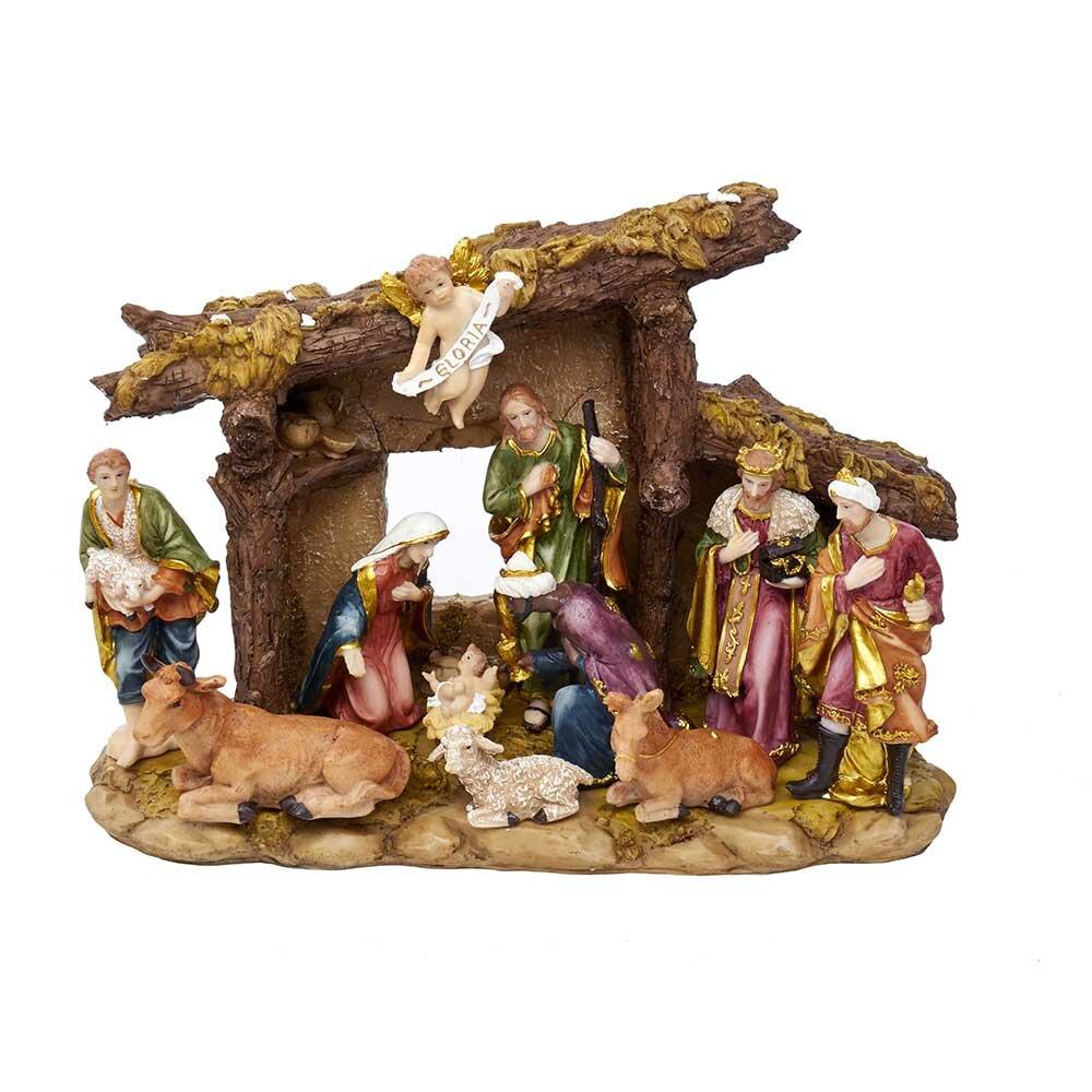 Kurt Adler 11 Piece Figures And Stable Nativity Set Reviews Wayfair