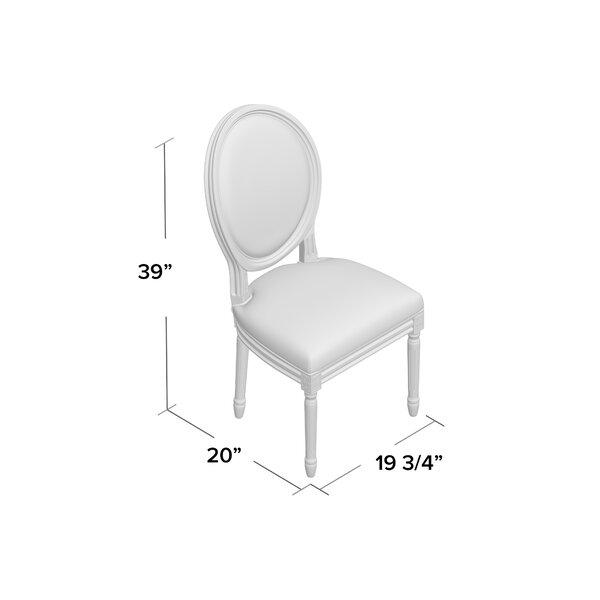 Falgoust Upholstered King Louis Back Side Chair Reviews Birch Lane